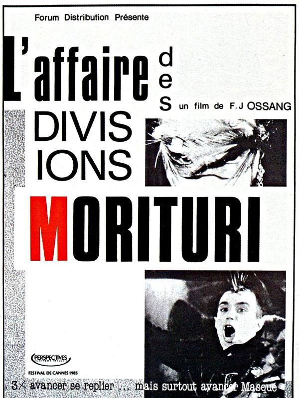 L'Affaire des Divisions Morituri - Affiche